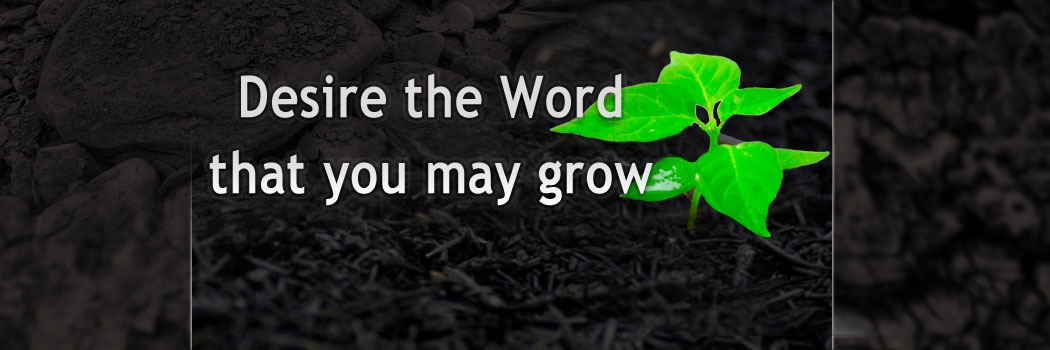 Desire the Word that you may grow